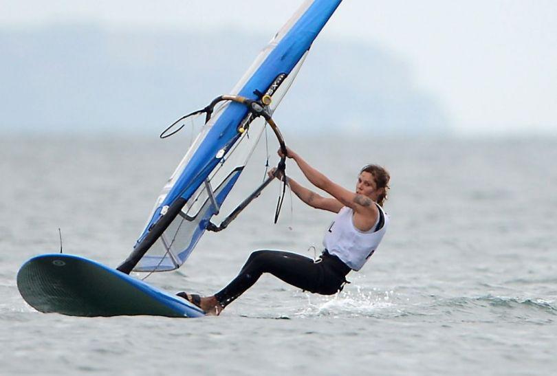 Zofia Noceti-Klepacka w walce o medal (fot. PAP/EPA)