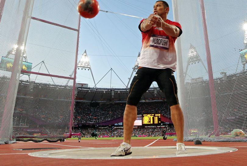 Brązowy medal z wynikiem 78,71 m zdobył Japończyk Koji Murofushi (fot. Getty Images)