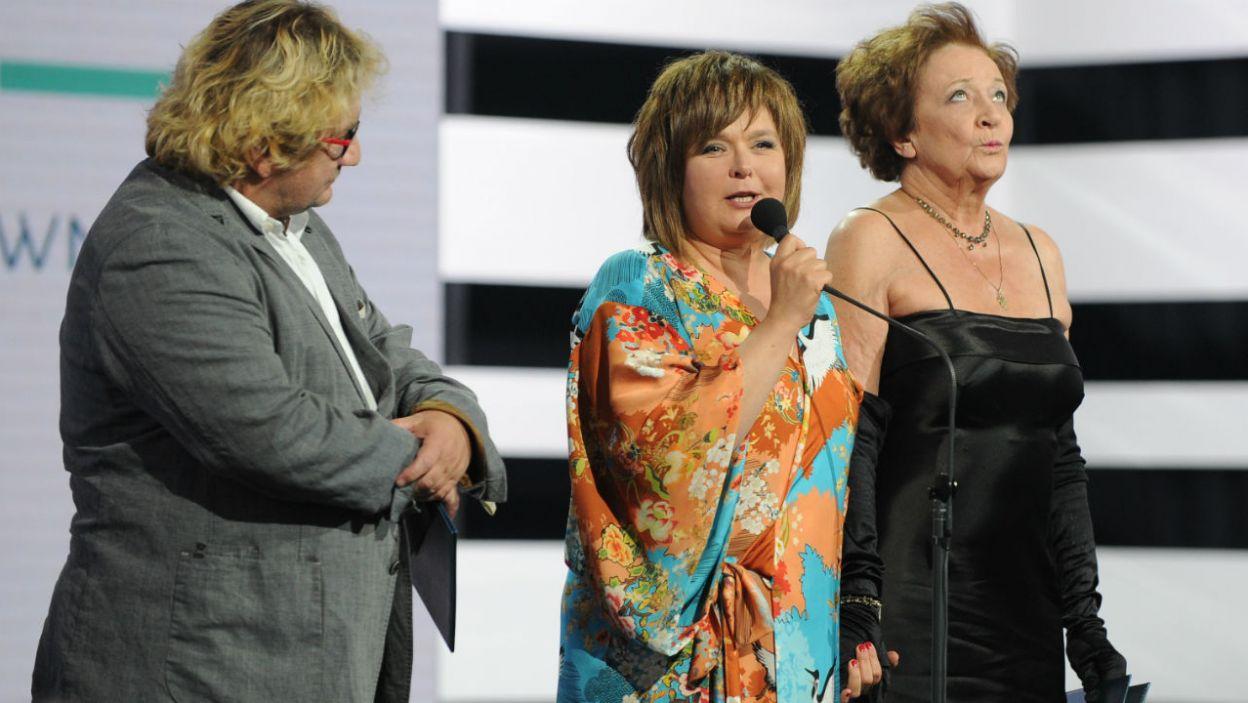 Nagrodą ZASP-u za role w Teatrze TV uhonorowane zostały Edyta Jungowska i Ewa Dałkowska (fot. N. Młudzik/TVP)