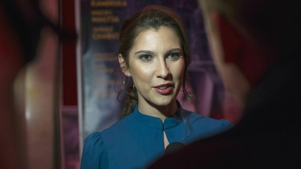 Główną rolę zagrała Kamila Kamińska. Aktorka podkreśliła, że najważniejsza była dla niej relacja Faustyny i Jezusa (fot. N. Młudzik/TVP)