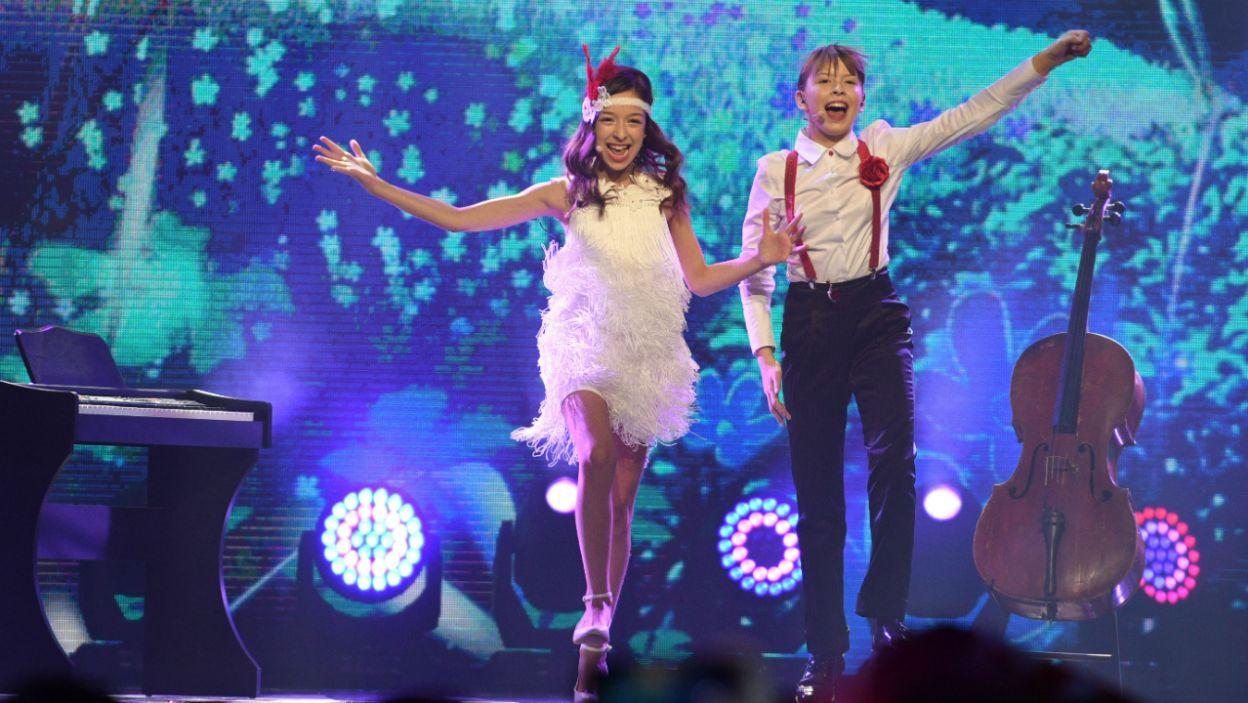 Irina i Jan z Serbii udowodniły, że ruch sceniczny to nie jest rzecz im obca (fot. Getty Images)