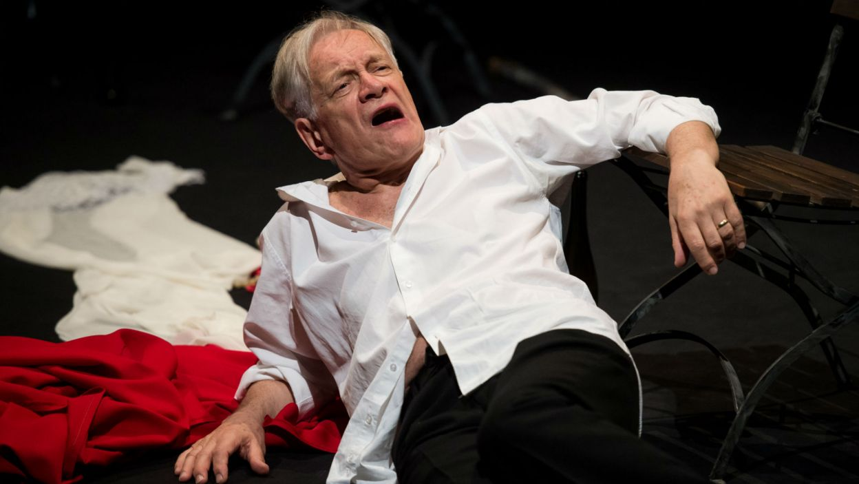 Będzie Hamletem i królem Anglii Henrykiem V...  (fot. Jan Bogacz/TVP)