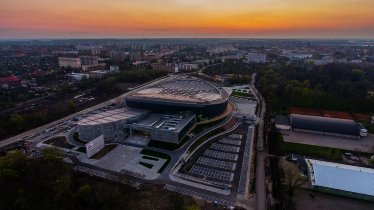Arena Gliwice już od prawie roku wpisuje się w panoramę miasta. Trzeba przyznać, iż hala robi wrażenie! (fot. M. Baranowski/ archiwum UM Gliwice)