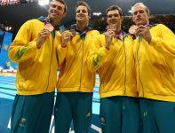 Reprezentacja Australii zdobyła brązowy medal w rywalizacji sztafet 4x100 metrów stylem zmiennym (fot. Getty Images)