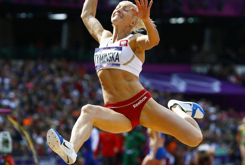 Karolina Tymińska w rywalizacji siedmioboistek (fot. PAP/EPA)