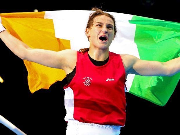 Katie Taylor wywalczyła pierwszy złoty medal dla Irlandii na igrzyskach w Londynie (fot. Getty Images)