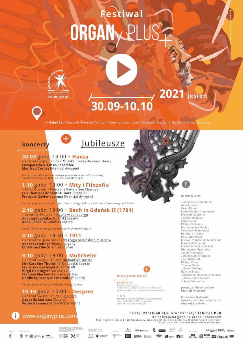 Festiwal ORGANy PLUS+® JESIEŃ 2021: JUBILEUSZE