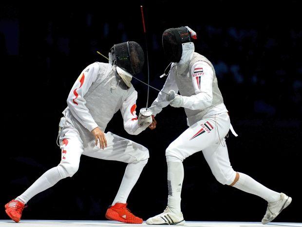 Alaaeldin Abouelkassem (P) przeszedł do historii olimpizmu (fot. Getty Images)