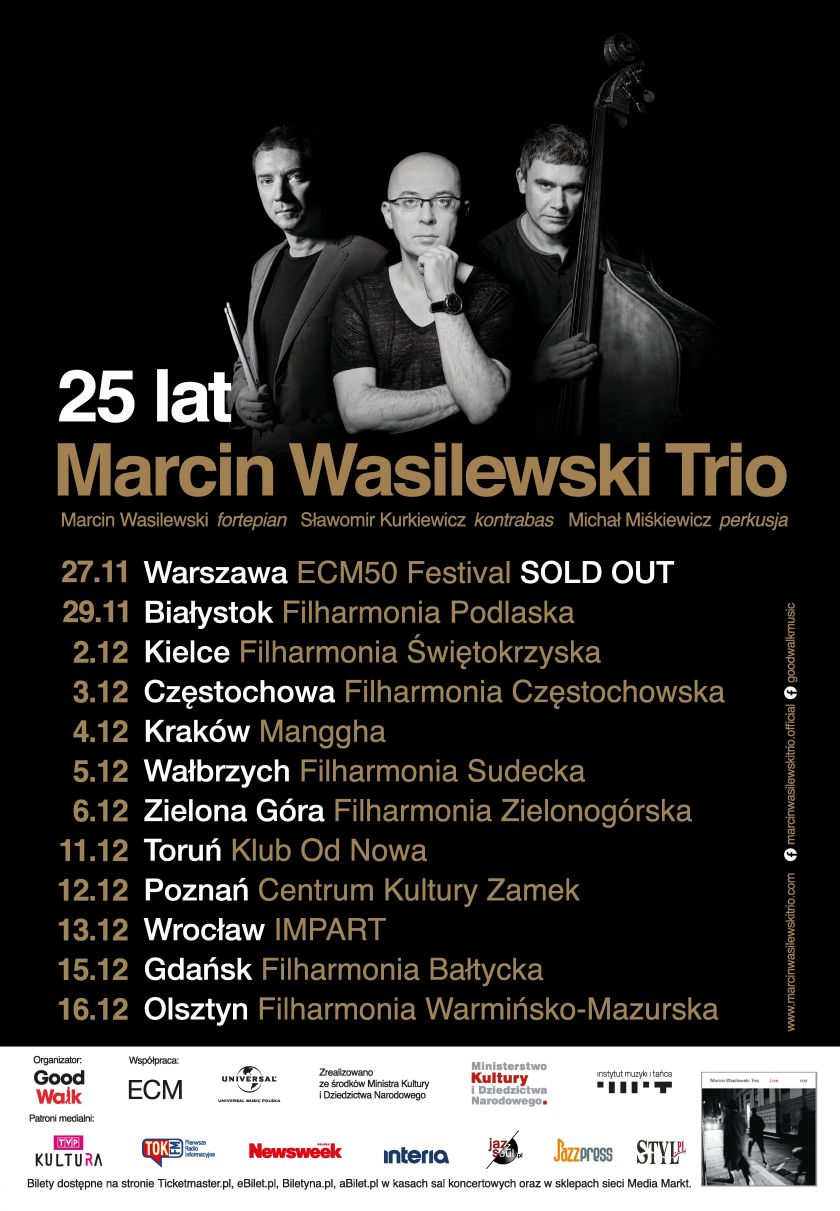 Trasa Jubileuszowa Marcin Wasilewski Trio