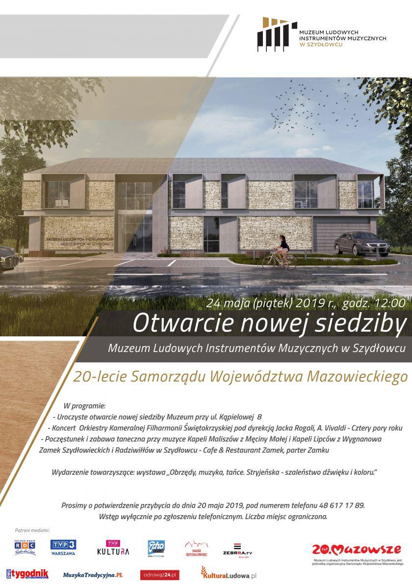 Uroczyste otwarcie nowej siedziby Muzeum Ludowych Instrumentów Muzycznych w Szydłowcu
