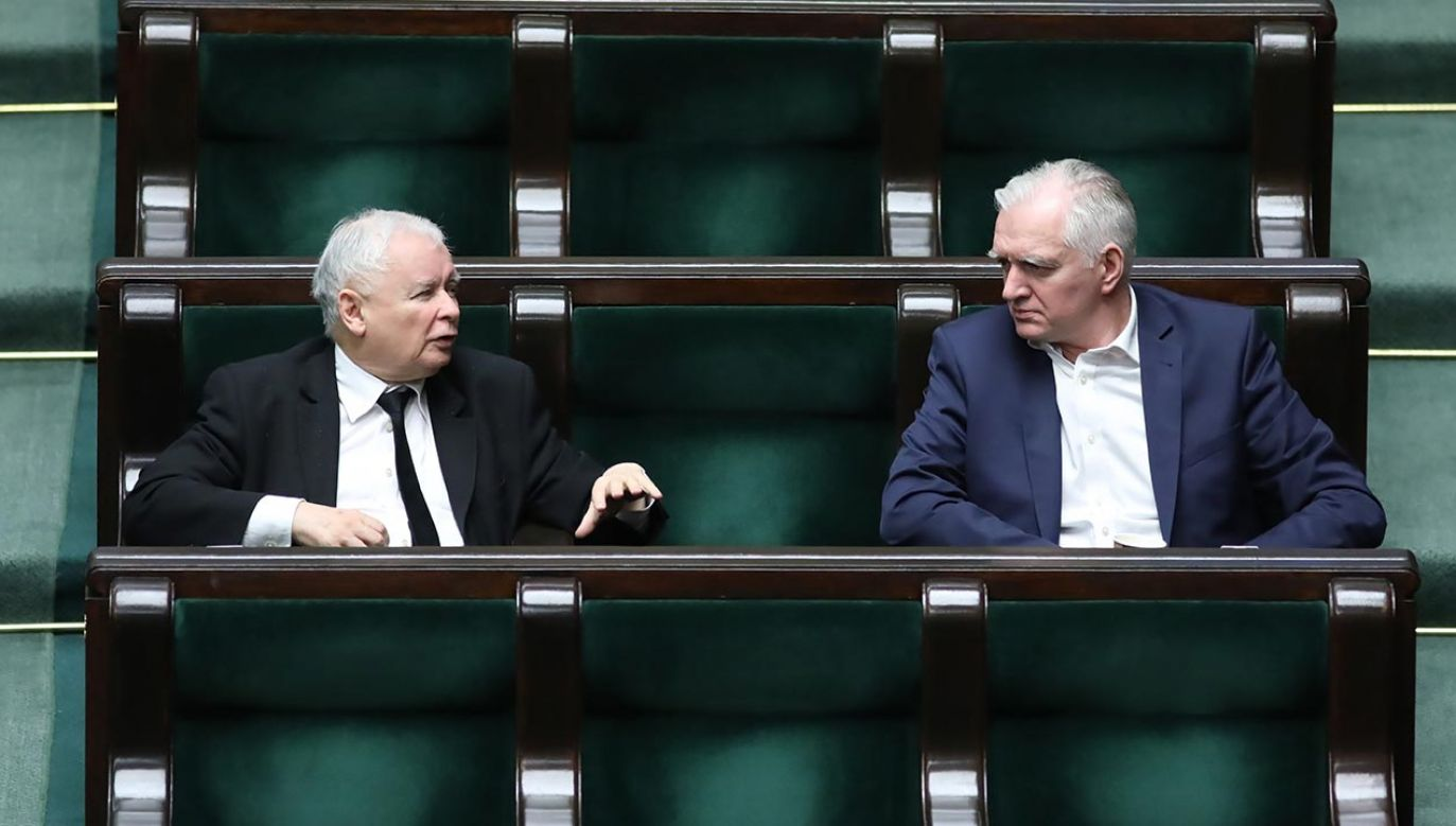 Jarosław Kaczyński spotkał się z Jarosławem Gowinem (fot. PAP/Leszek Szymański)
