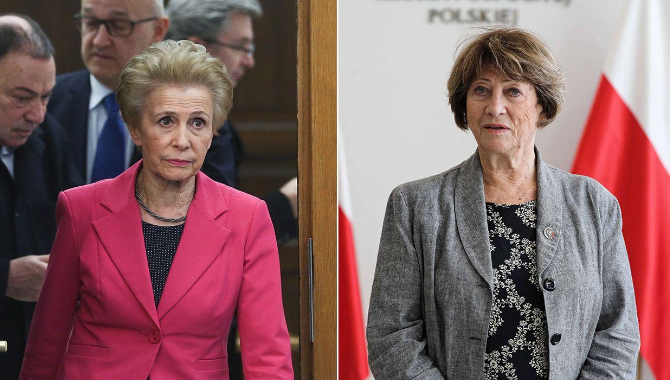 Iwona Śledzińska-Katarasińska i Barbara Borys-Damięcka z PO otworzą pierwsze posiedzenia Sejmu i Senatu (fot. arch. PAP/Tomasz Gzell)
