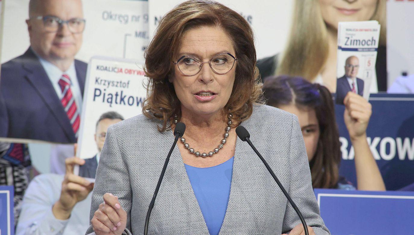 Wicemarszałek Sejmu Małgorzata Kidawa-Błońska (fot. PAP/Roman Zawistowski)