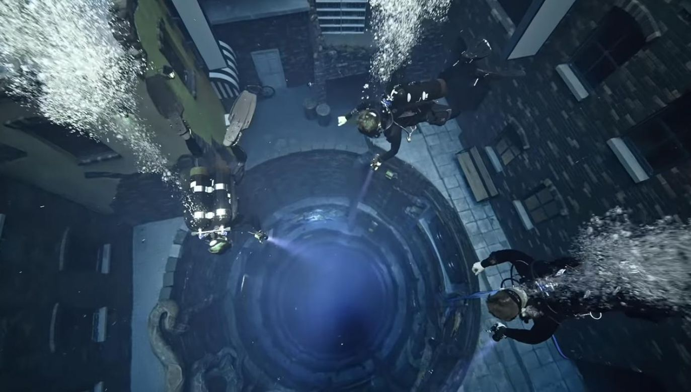 Najgłębszy basen na świecie (fot. YouTube/ Deep Dive Dubai)