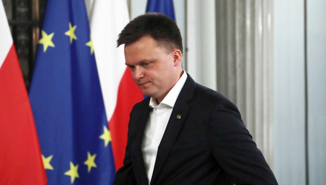 Szymon Hołownia (fot.  PAP/Wojciech Olkuśnik)