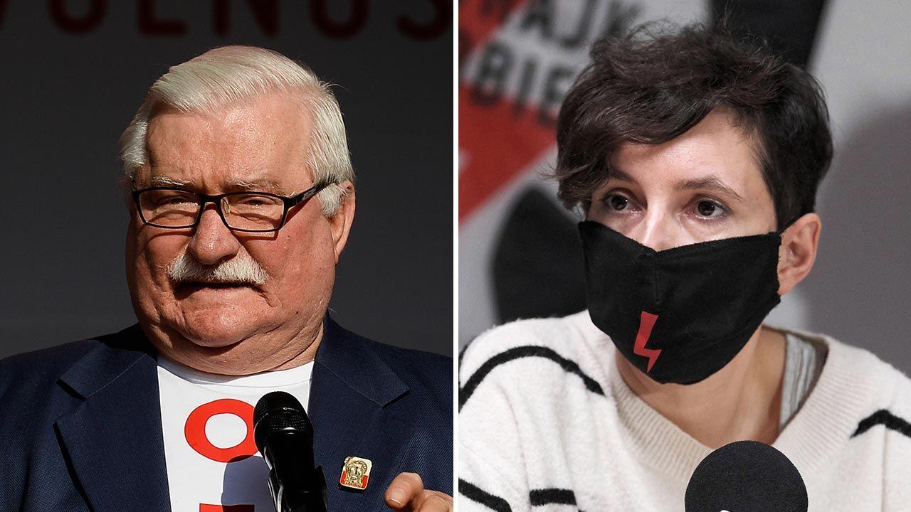 Lech Wałęsa i agitatorka Klementyna Suchanow chcą rewolucji. Cena nie gra roli (fot. Omar Marques/Getty Images; PAP/Mateusz Marek)