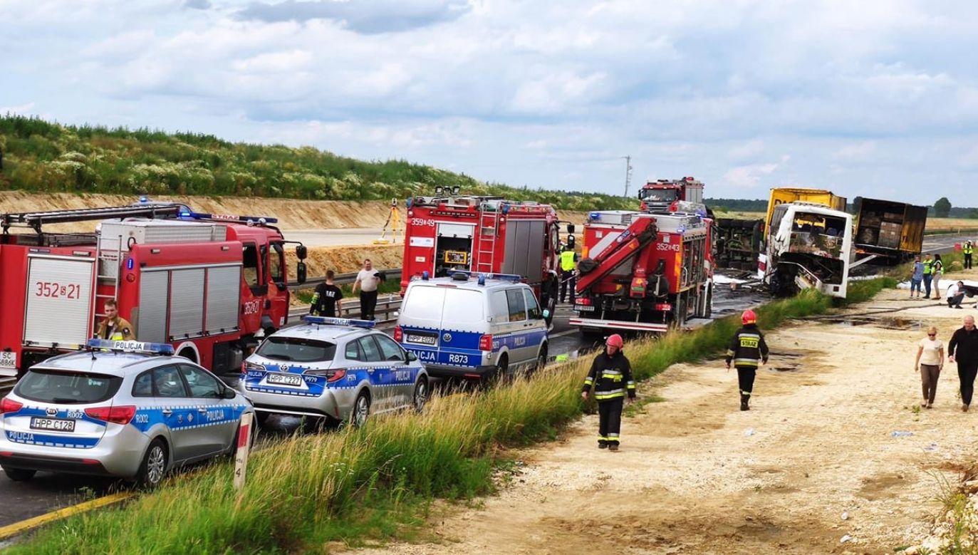 Do wypadku doszło przed godz. 14:00 (fot. Policja)
