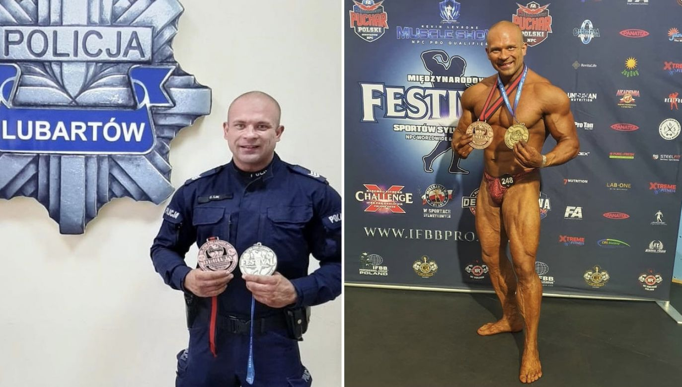 Cezary Lik odnosi sukcesy w kulturystyce (fot. Policja lubelska)