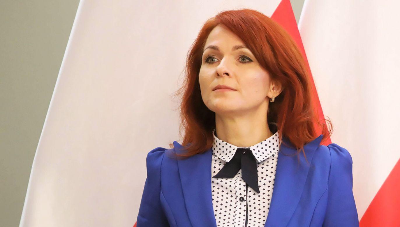 Szefowa Kancelarii Sejmu Agnieszka Kaczmarska (fot. arch. PAP/Wojciech Olkuśnik)