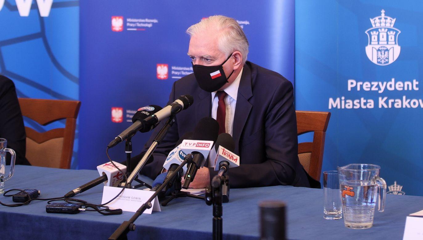 Deputy PM and development, labour and technology minister Jarosław Gowin. Photo: PAP/Łukasz Gągulski