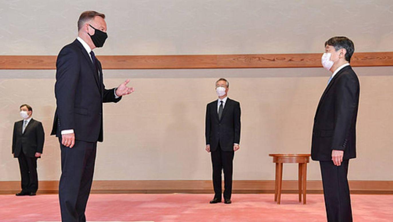 Prezydent Duda został przyjęty na audiencji u cesarza Naruhito (fot. KPRP)