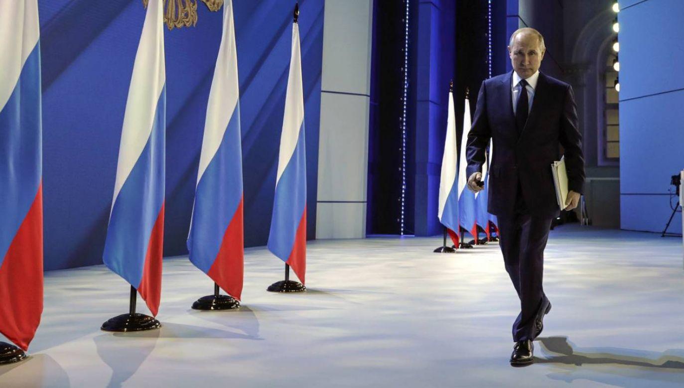 Prezydent Rosji Władimir Putin (fot. PAP/EPA/MIKHAIL METZEL / SPUTNIK / KREMLIN POOL)