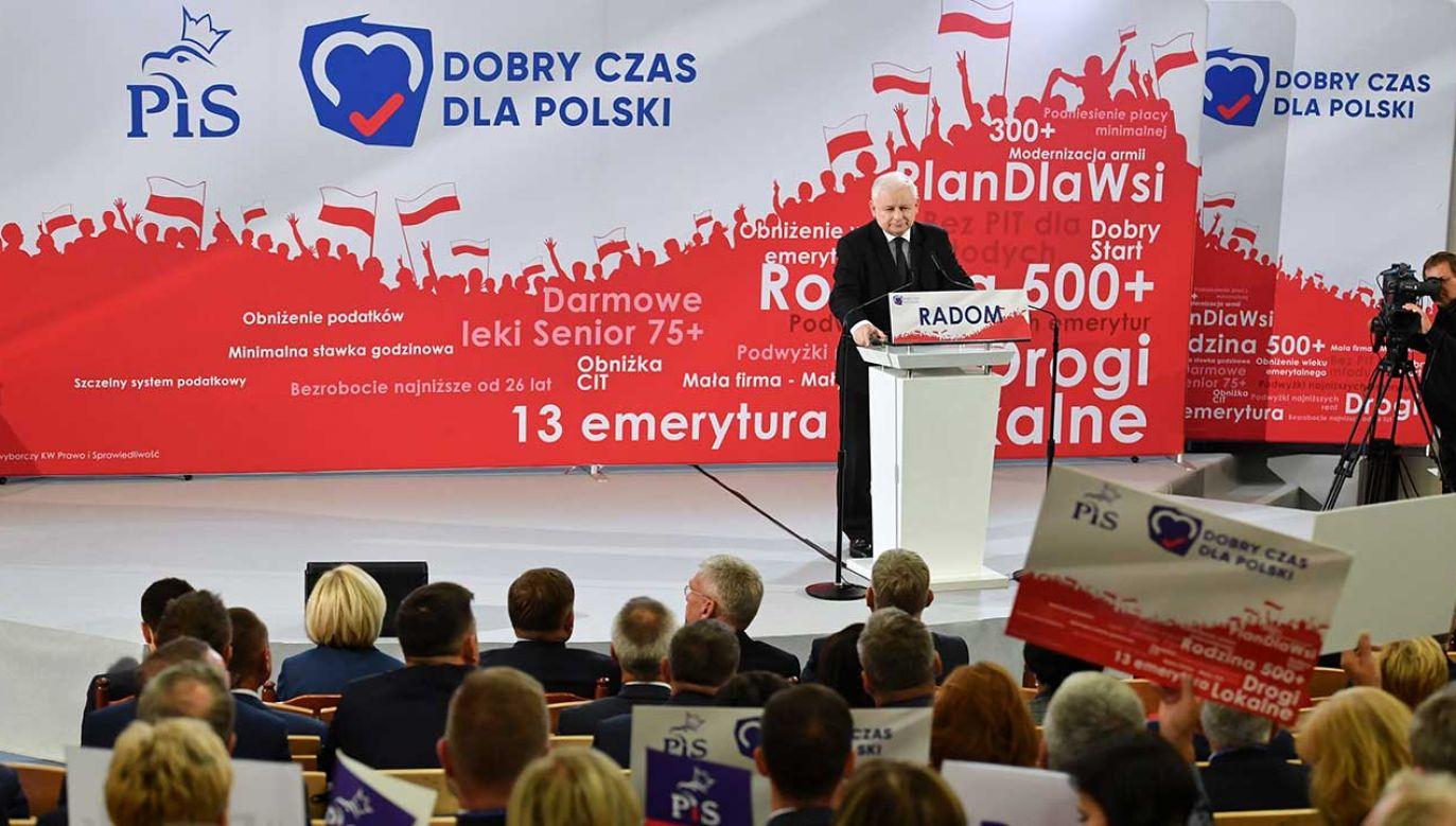 Miażdżąca większość naszych obietnic została wykonana – podkreślił prezes PiS (fot. PAP/Piotr Polak)
