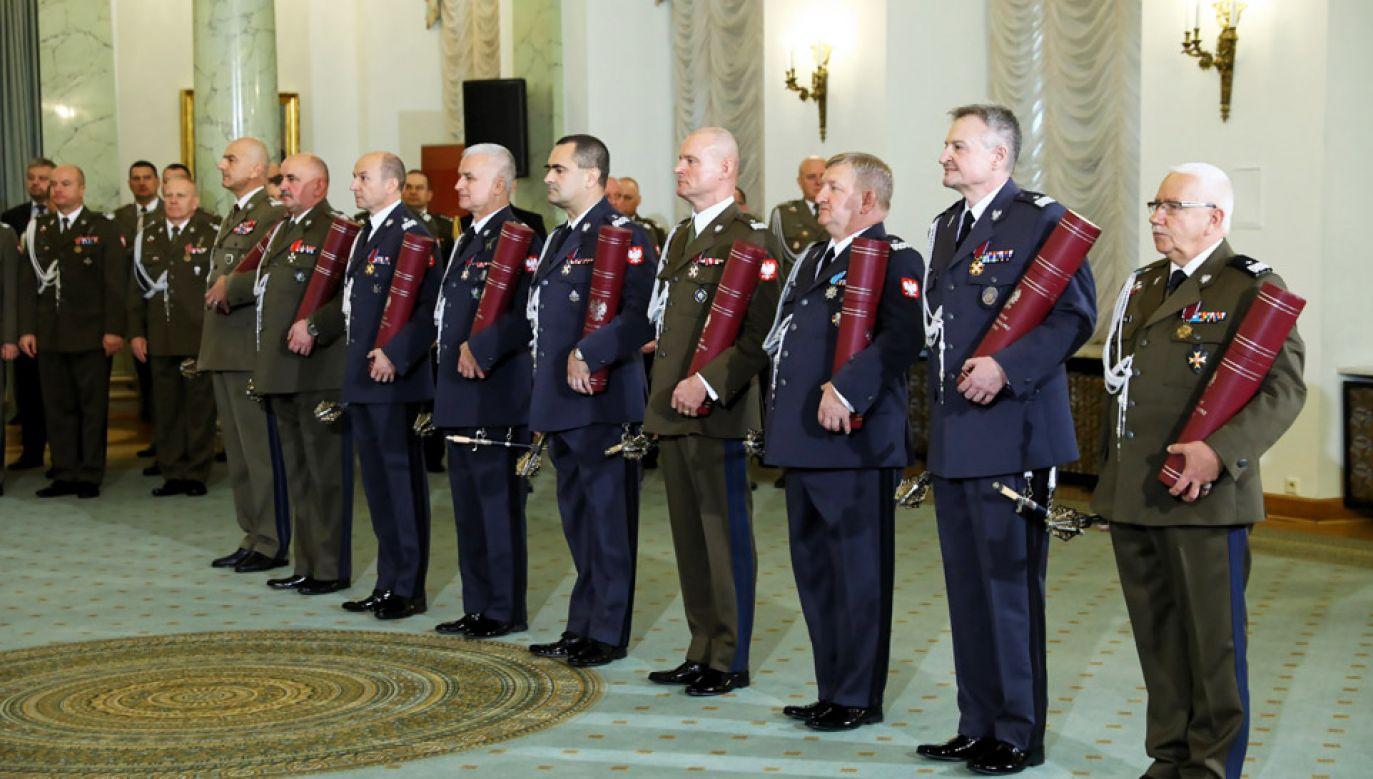 Uroczystość wręczenia nominacji generalskich (fot. PAP/Rafał Guz)