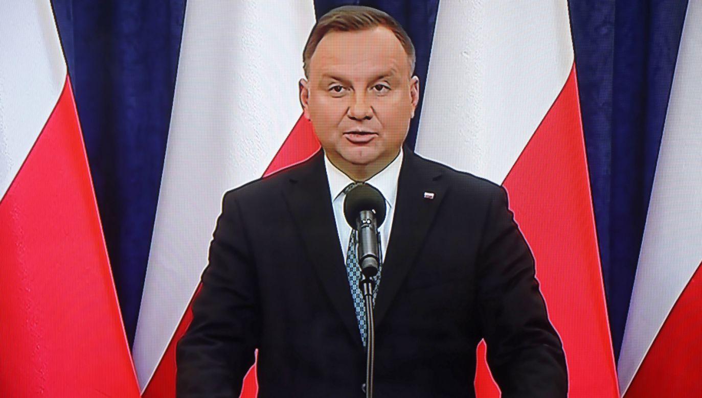 Prezydent Andrzej Duda (fot. PAP/Wojciech Olkuśnik)