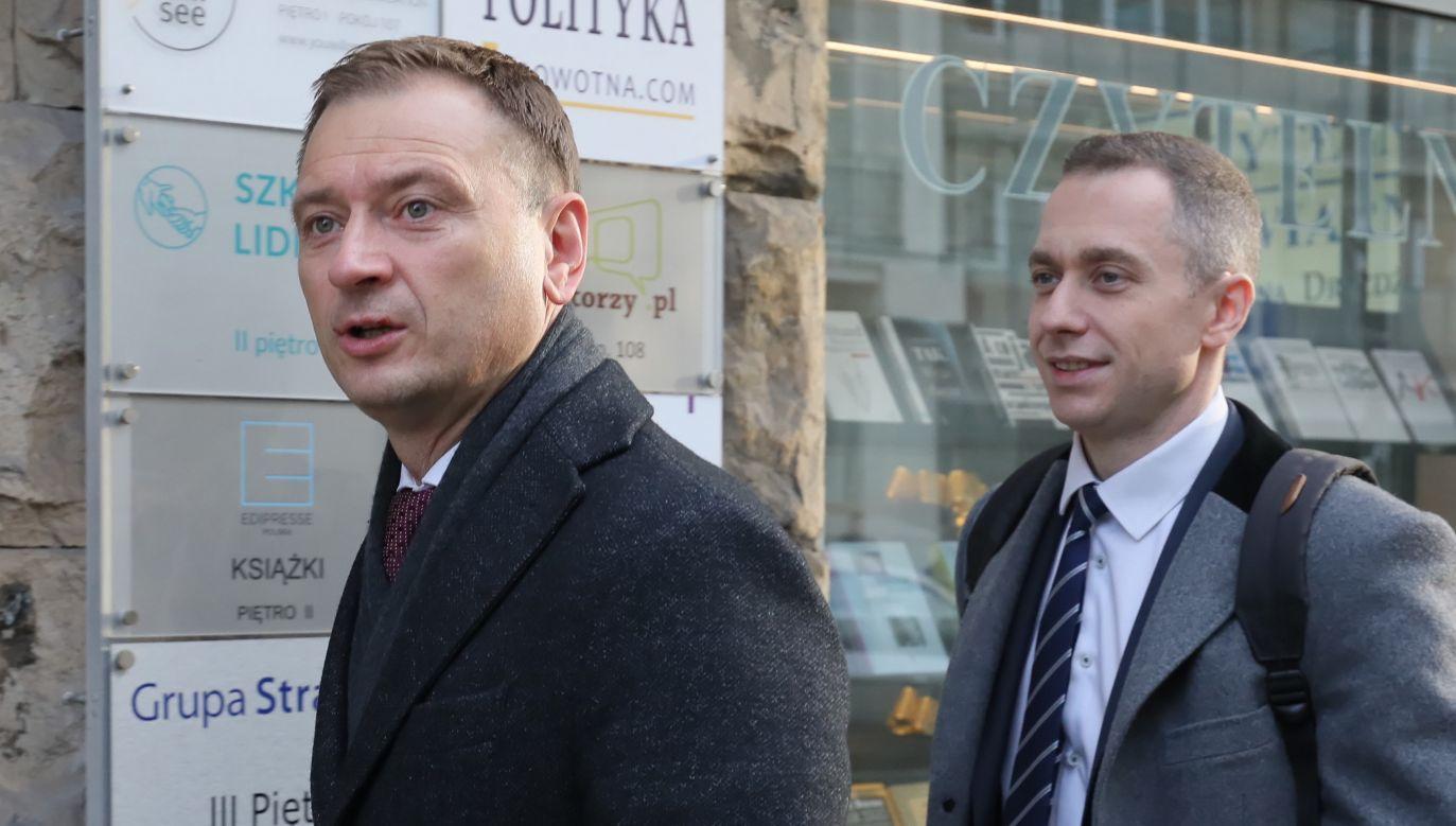 Posłowie Platformy Obywatelskiej Sławomir Nitras i Cezary Tomczyk (fot. arch. PAP / Paweł Supernak)