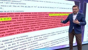 Paweł Blajer przedstawił założenia ustawy (fot. TVP Info)