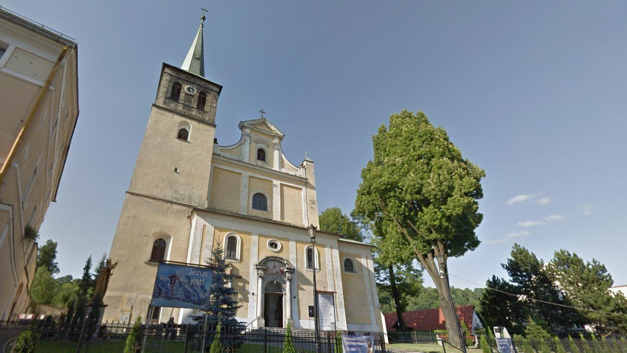 Dramat rozegrał się w kościele w Dusznikach-Zdroju (fot. Google Maps)