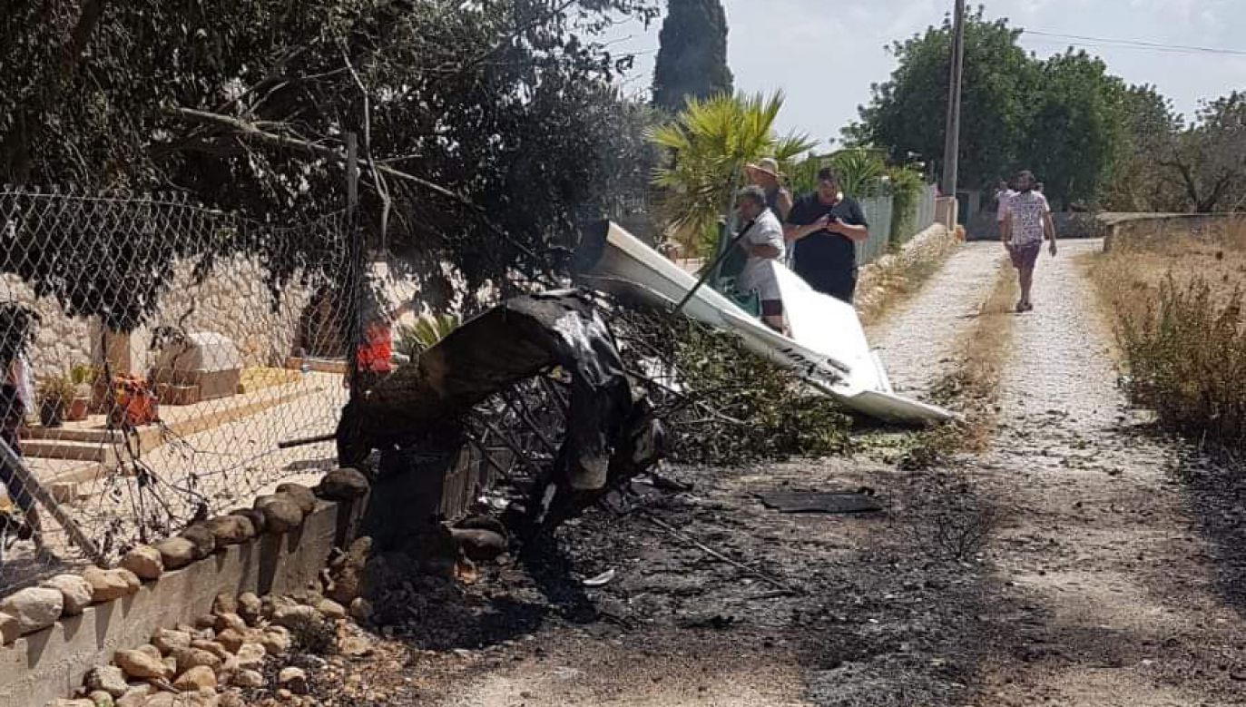 Na miejscu wypadku są służby ratownicze (fot. Twitter/Incendios f.Baleares)