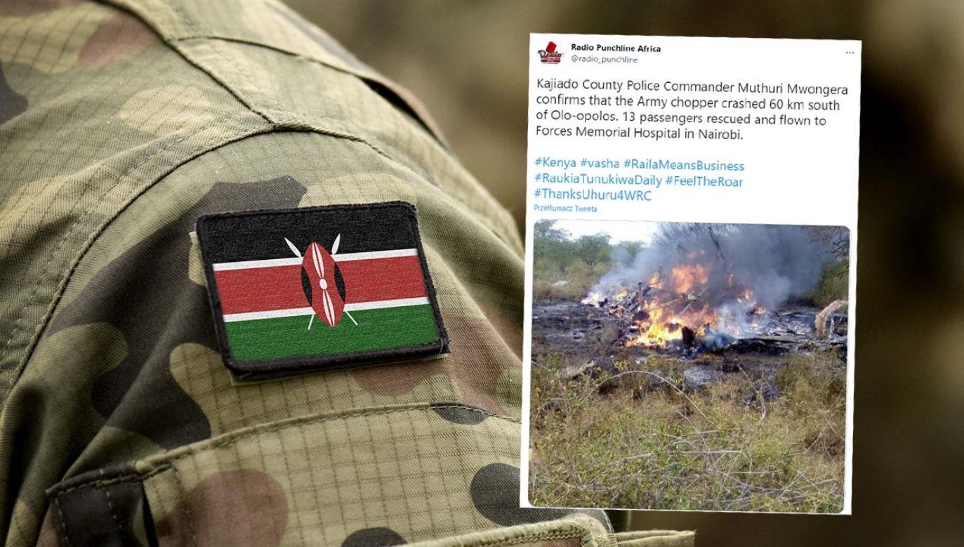 17 żołnierzy zginęło w katastrofie śmigłowca (fot. Shutterstock/Bumble Dee; Twitter/@radio_punchline)