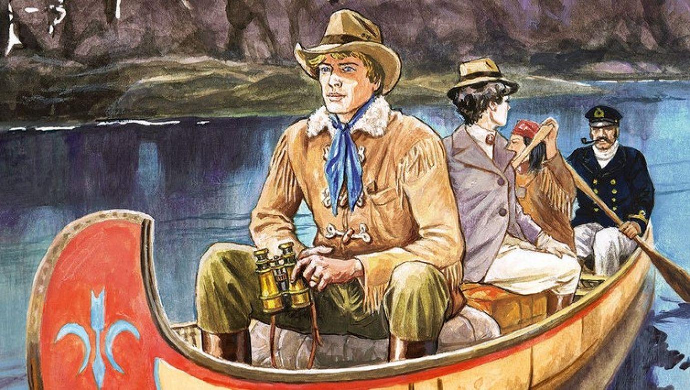 """""""Tomek na Alasce"""" – dziesiąta z cyklu opowieści o podróżach Tomka Wilmowskiego. Powstała na podstawie notatek Alfreda Szklarskiego, a premierę ma 29 lat po jego śmierci – 19 maja 2021.Fot fragment okładki"""