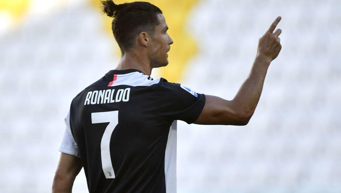 Cristiano Ronaldo w meczu z Torino strzelił gola z rzutu wolnego (fot. Getty Images)
