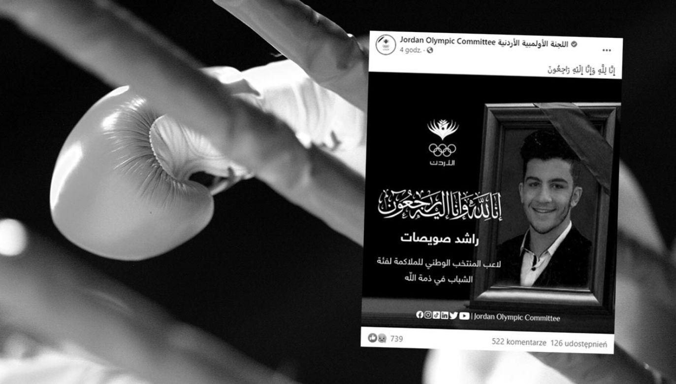 Lekarze walczyli o życie Rasheda Al Swaisata przez 10 dni (fot. Shutterstock/Anna Jurkovska; Facebook/Jordan Olympic Committee)