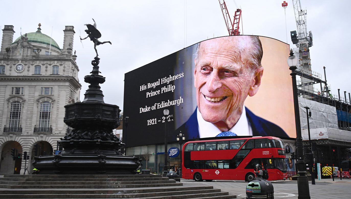 Książę Filip zmarł w wieku 99 lat (fot. PAP/EPA/ANDY RAIN)