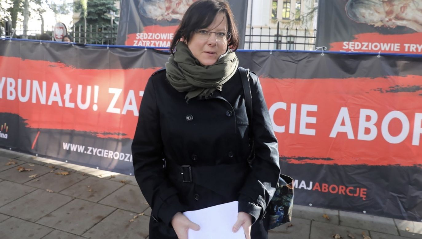 Działaczka pro-life zawiadomiła policję o groźbach i poprosiła o ochronę (fot. PAP/Tomasz Gzell)