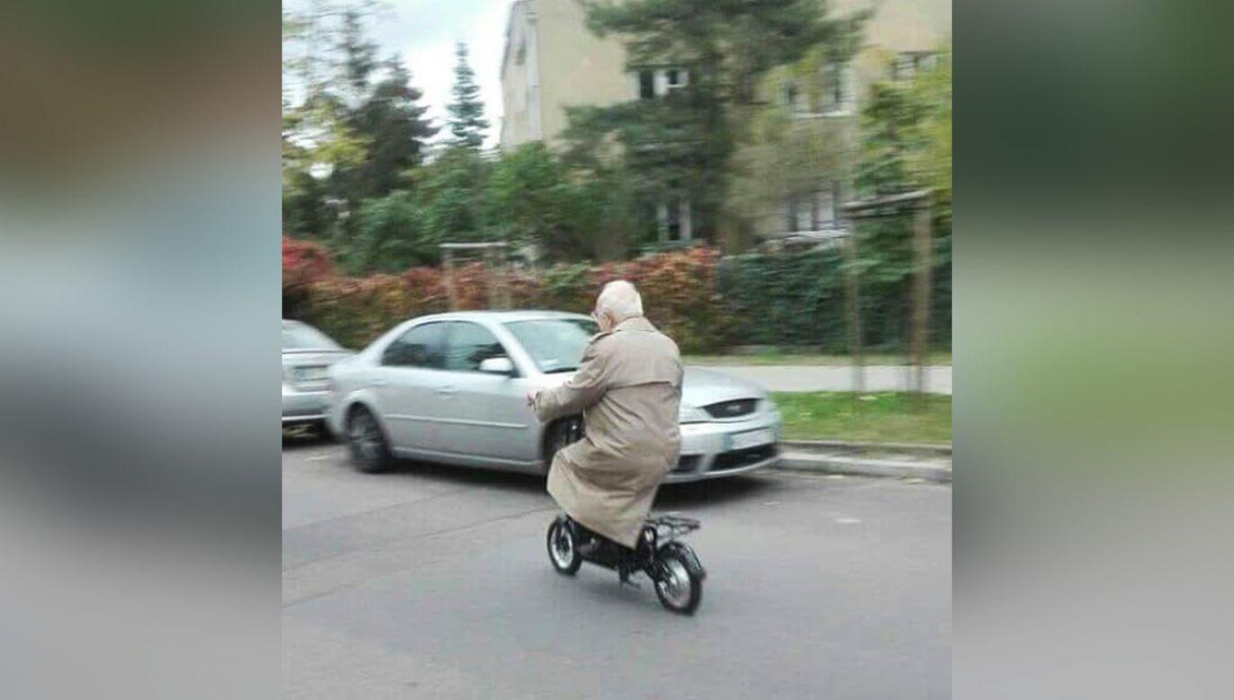 Pojazd był głównym środkiem transportu mężczyzny (fot. Facebook/Plac Wilsona)