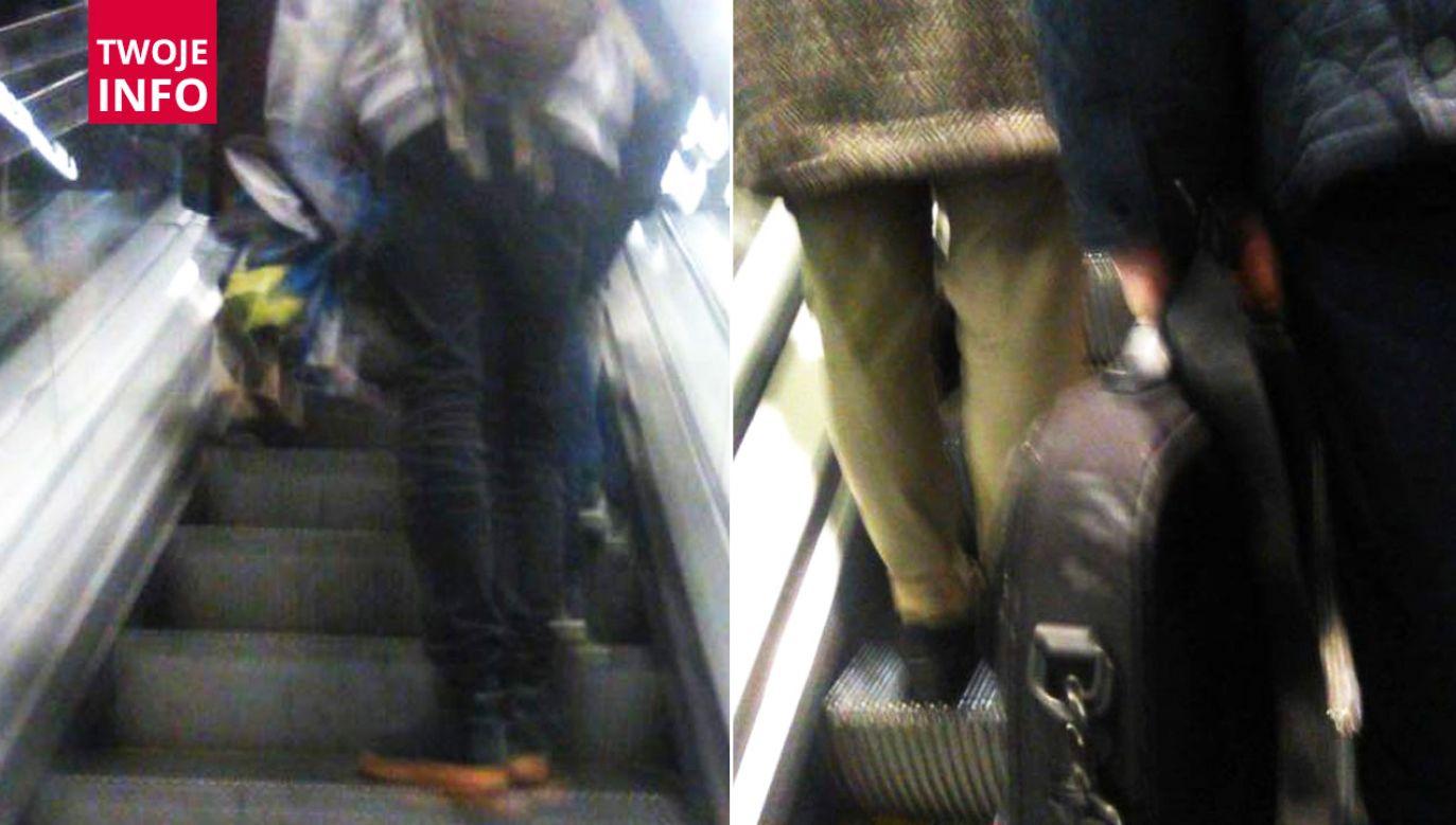 Czy po schodach warszawskiego metra można wchodzić pieszo?  (fot. Twoje Info)