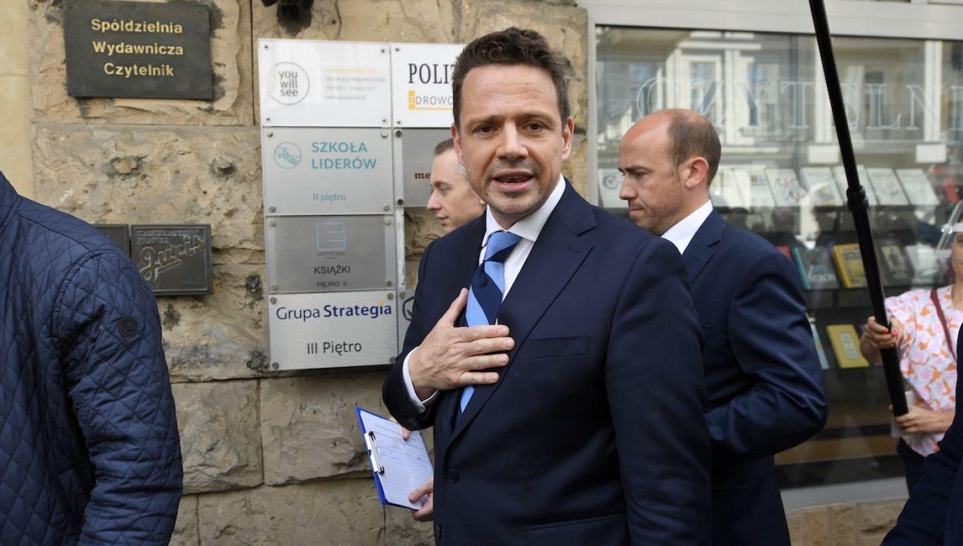 Hołownia jest przekonany, że Trzaskowski nie powinien zostać prezydentem (fot. arch.PAP/Piotr Nowak)