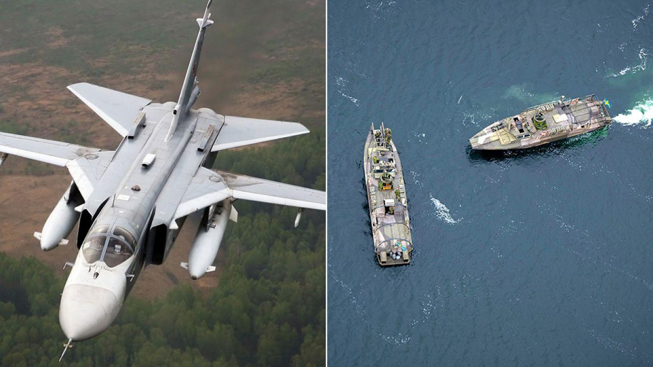 Su-24 przeleciały nad wyspą Olandia, a Szwedzi poszukują tajmnieczego obiektu (fot. PAP/EPA/FREDRIK SANDBERG/MARKO SAAVALA)
