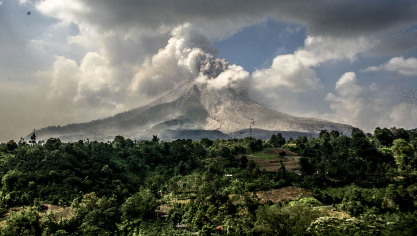 Wybuch wulkanu Sinabung w Indonezji (fot. K.Byma/SOPA/LightRocke/Getty Images)