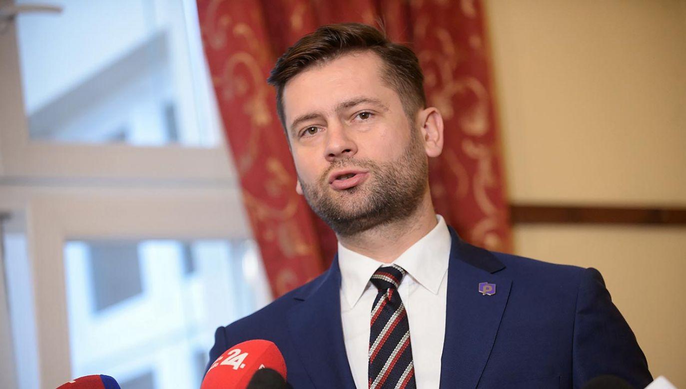 Kamil Bortniczuk to jeden z założycieli Partii Republikańskiej (fot. PAP/Marcin Obara)