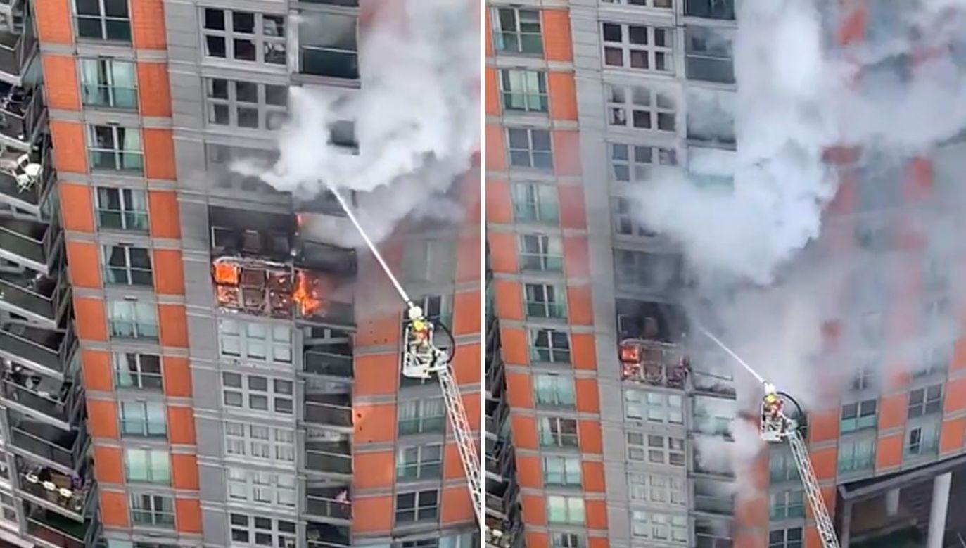 Pożar budynku w Londynie (fot. Twitter/Rachael Venables)