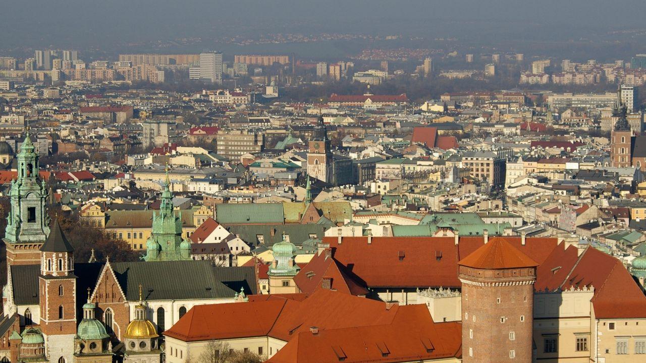 Stężenie pyłów w krakowskim powietrzu jest jednym z najwyższych w Europie (fot. Wikimedia)