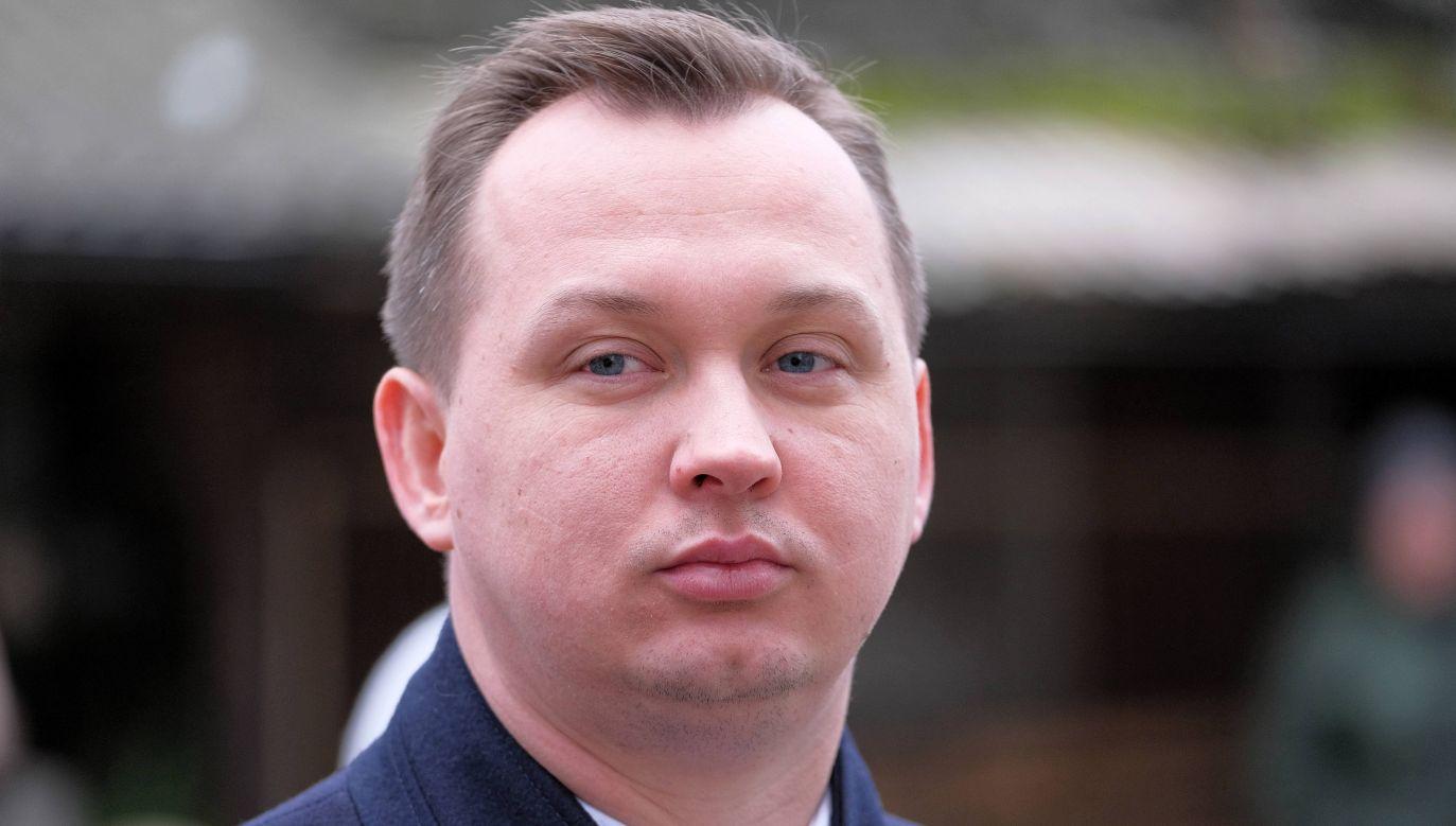 poseł Solidarnej Polski Mariusz Kałużny (fot. PAP/Mateusz Marek)