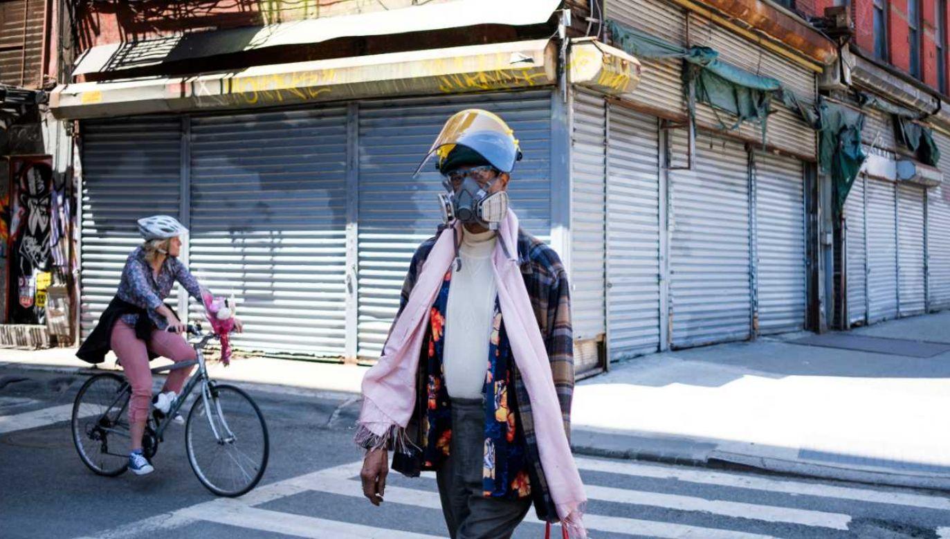 Koronawirus zabił tysiące osób w Nowym Jorku (fot. PAP/EPA/JUSTIN LANE)