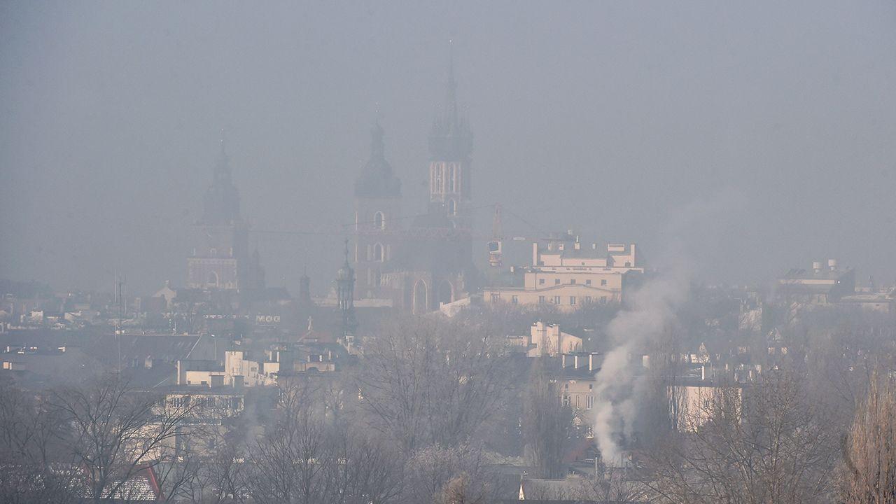 """Dramatyczna sytuacja w małych i średnich miejscowościach wynika ze spalania węgla i drewna w  tzw. """"kopciuchach"""" (fot. arch. PAP/Jacek Bednarczyk)"""